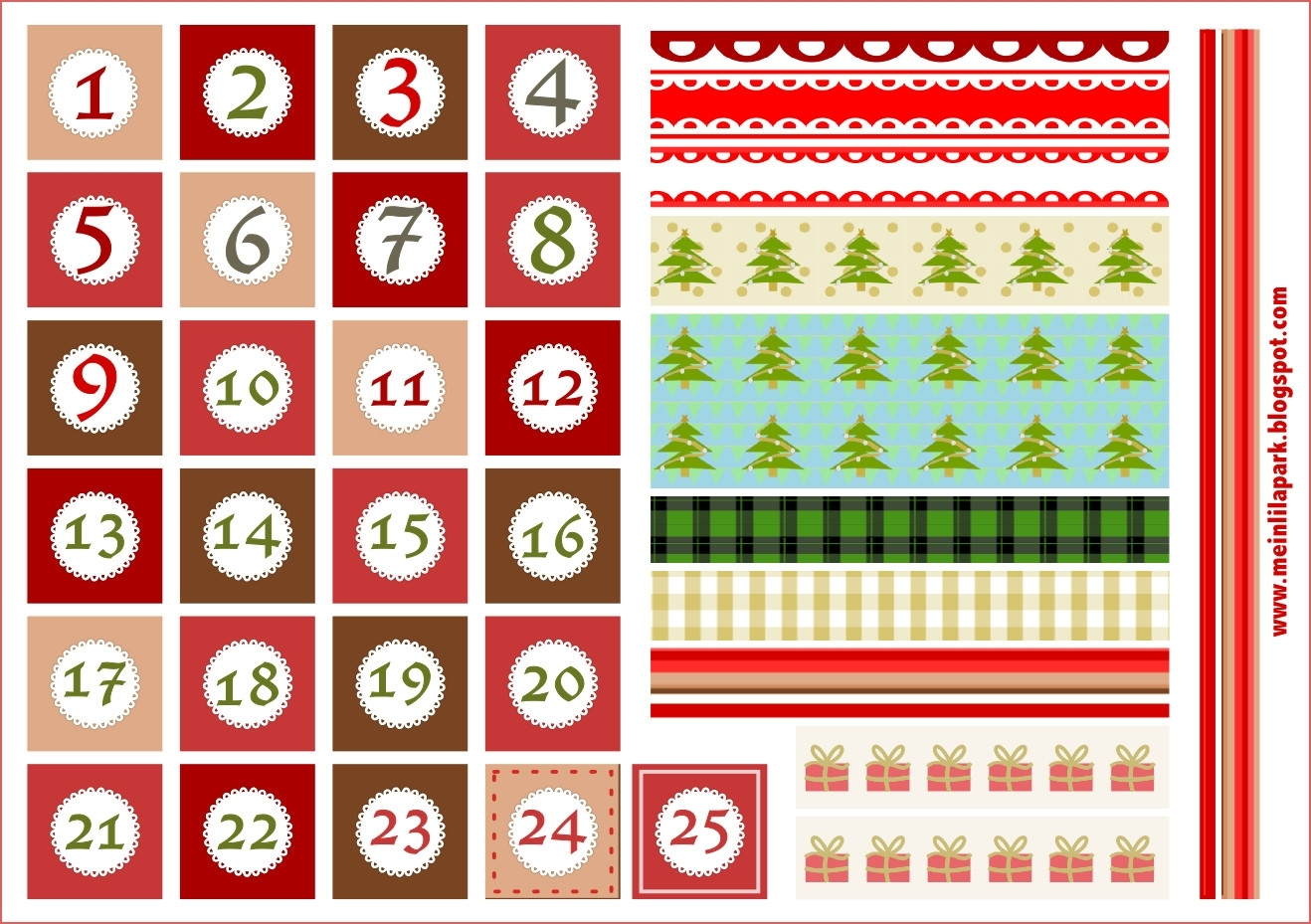 Large Printable Calendar Numbers 1-31 - Calendar