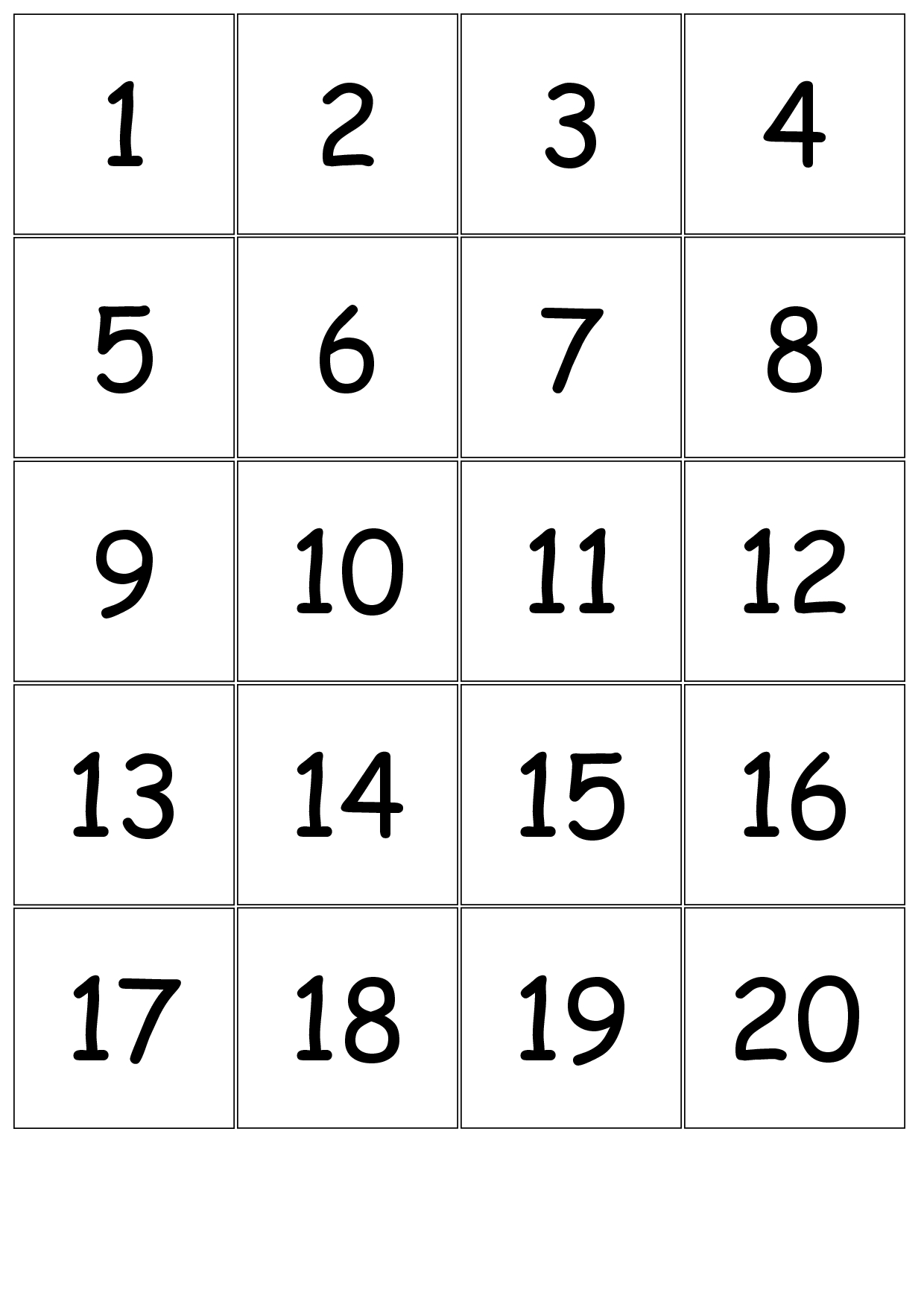 Large Printable Numbers 1 31 - Calendar Inspiration Design