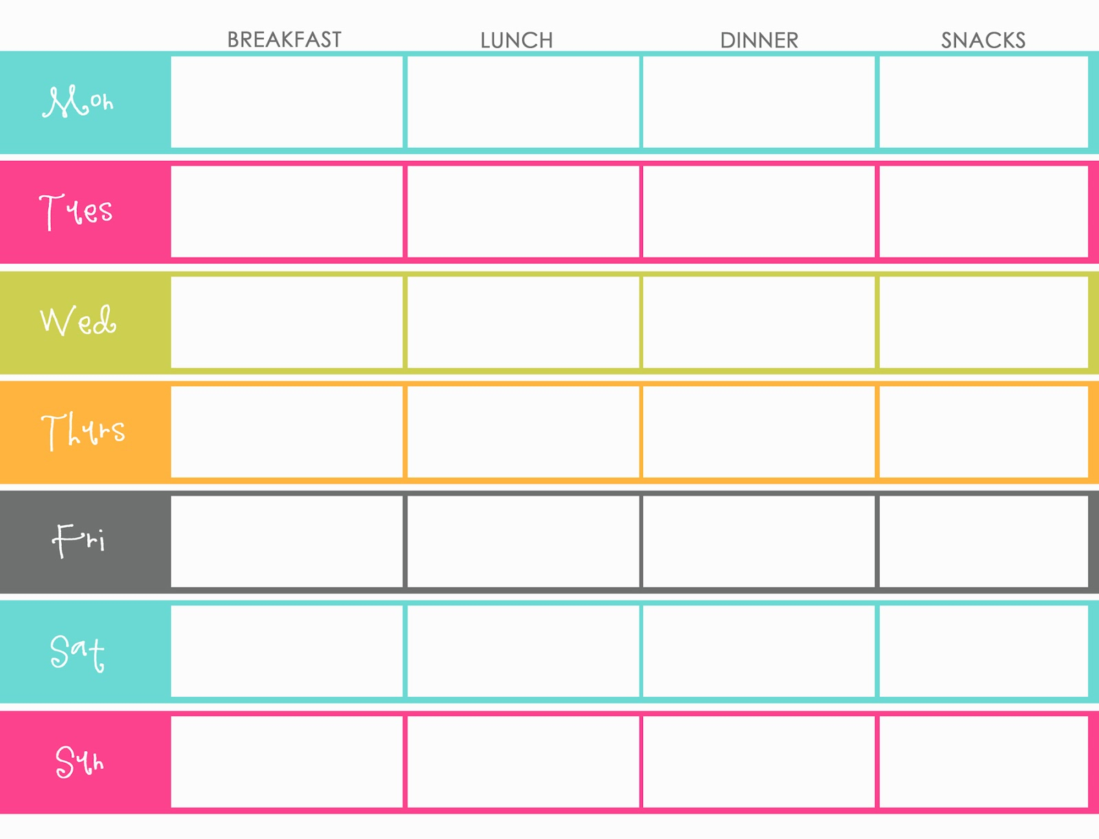 Little Housewife: Meal Planning