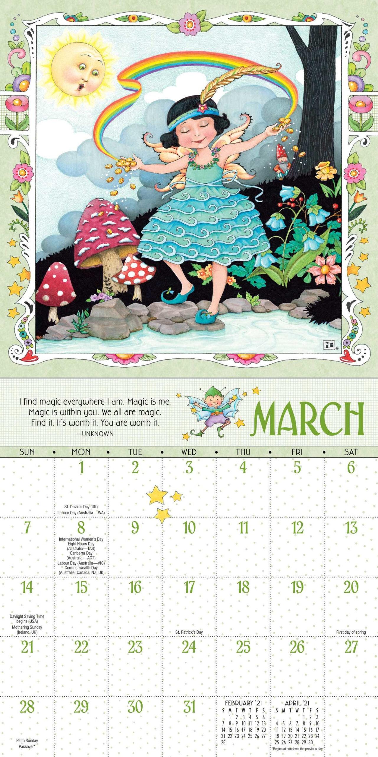 Mary Engelbreit 2021 Mini Wall Calendar - Book Summary