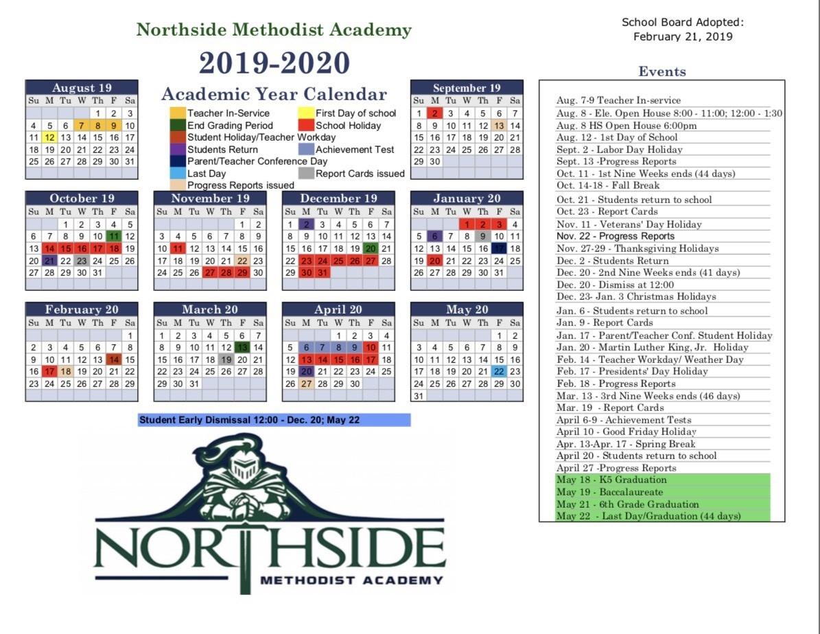Methodist Church Liturgical Calendar 2020 - Template