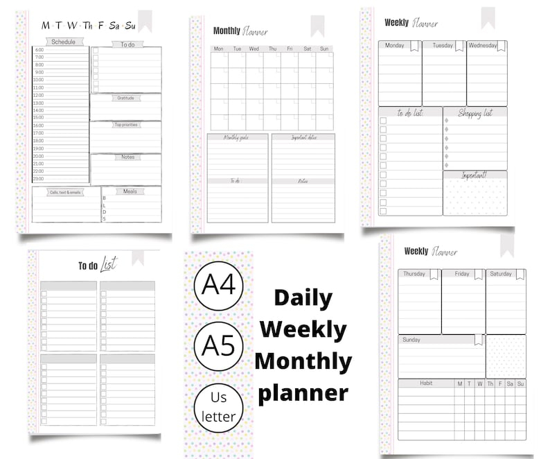 Month At A Glance Daily Weekly And Monthly Planner