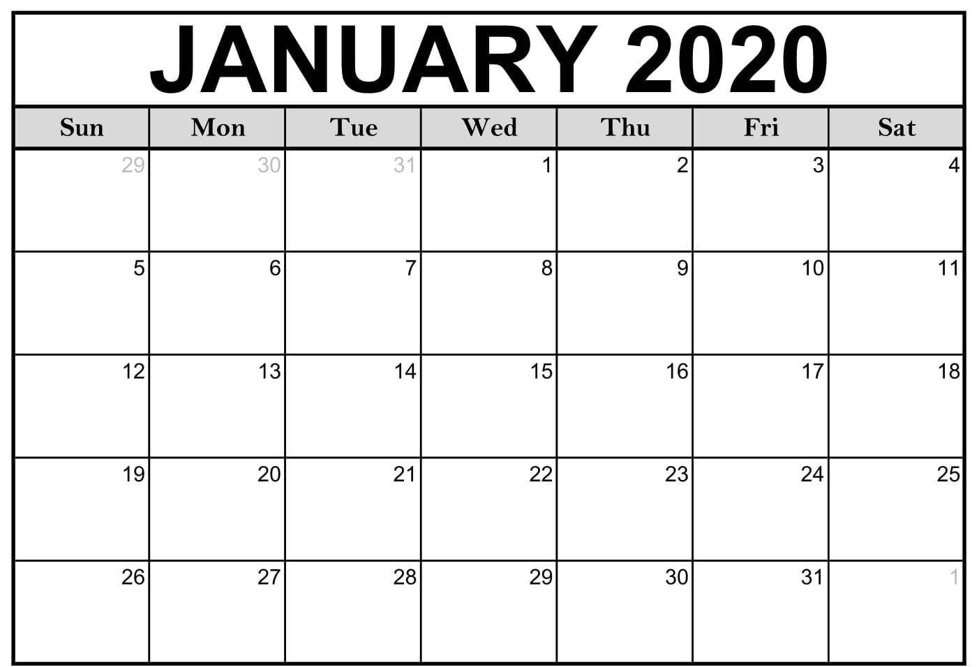 Monthly Calendar 2021 Printable Large   Calendar Template