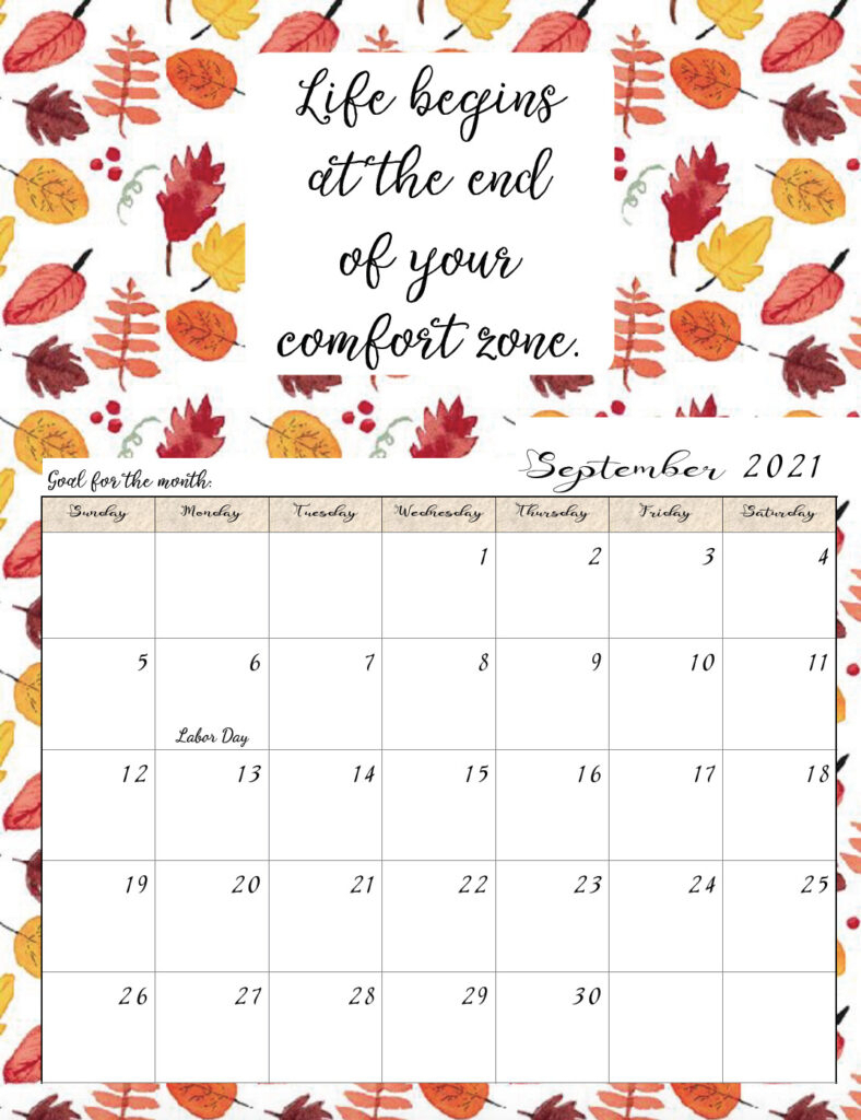 Motivational Calendar Printable 2021 | Free 2021 Printable