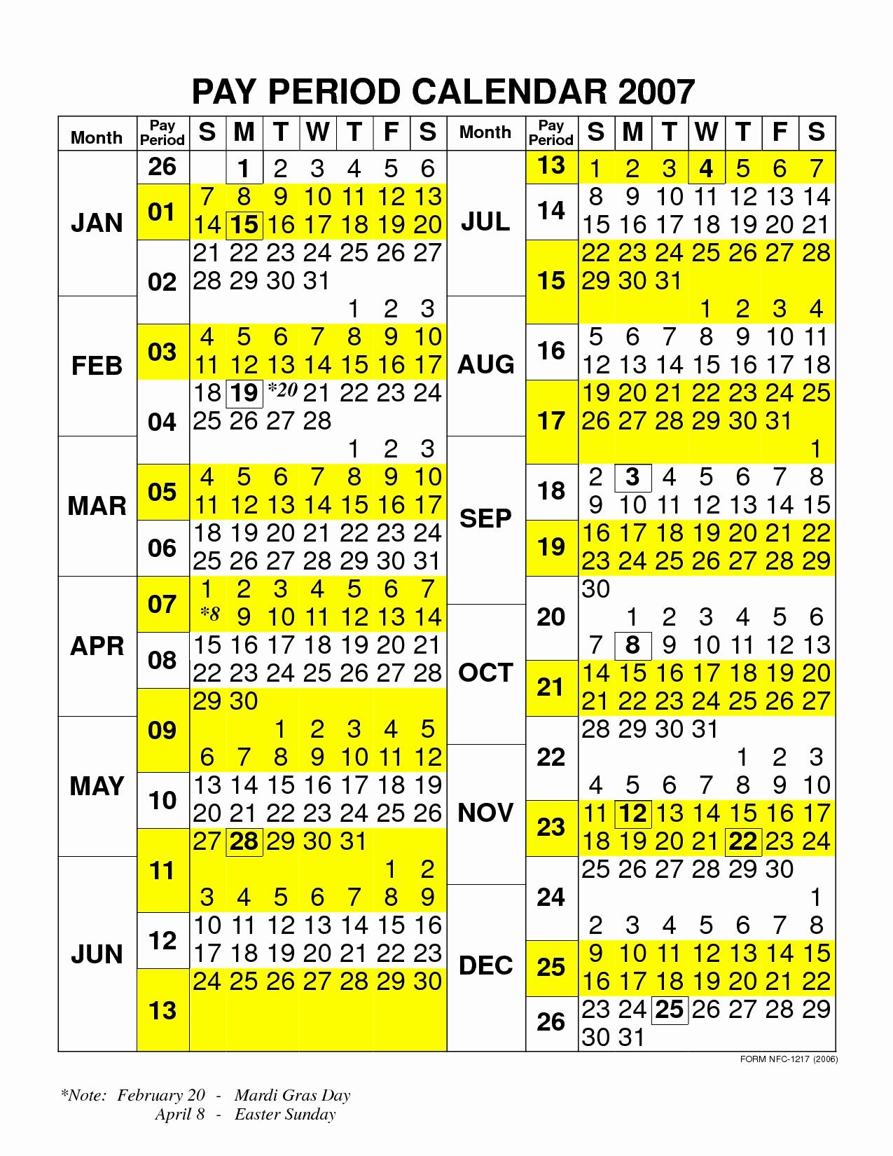 Nfc Payroll Calendar 2020 | Payroll Calendar 2021
