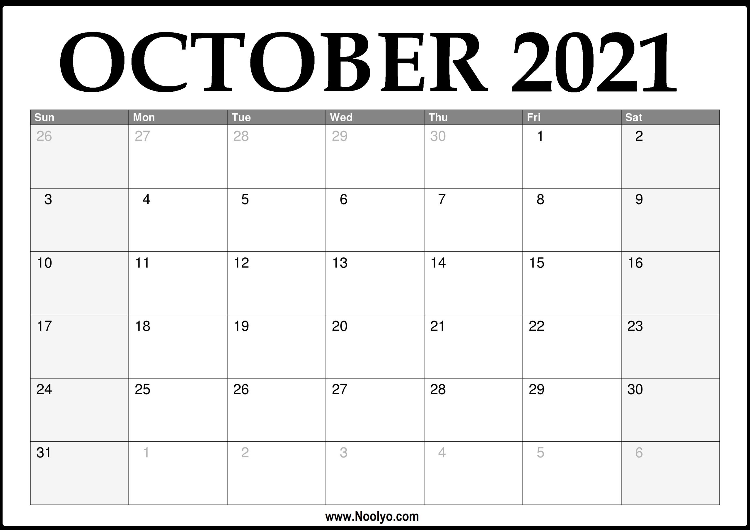 October 2021 Thru December 2021 Calendar   Calendar
