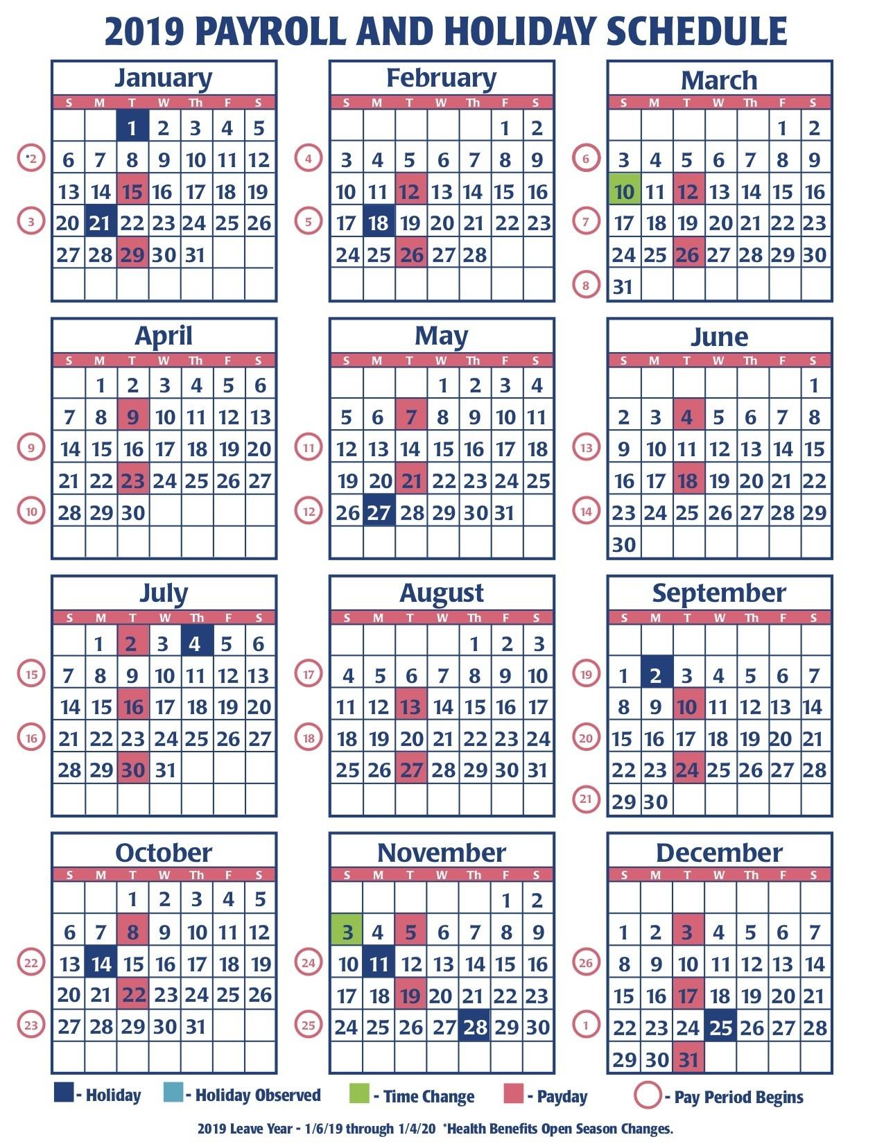 Opm Federal Pay Period Payroll Calendar 2020 - Template