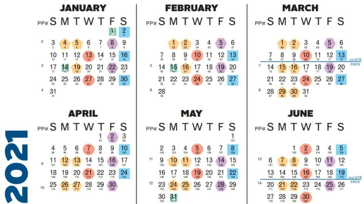 Payroll Calendar 2021 - Business
