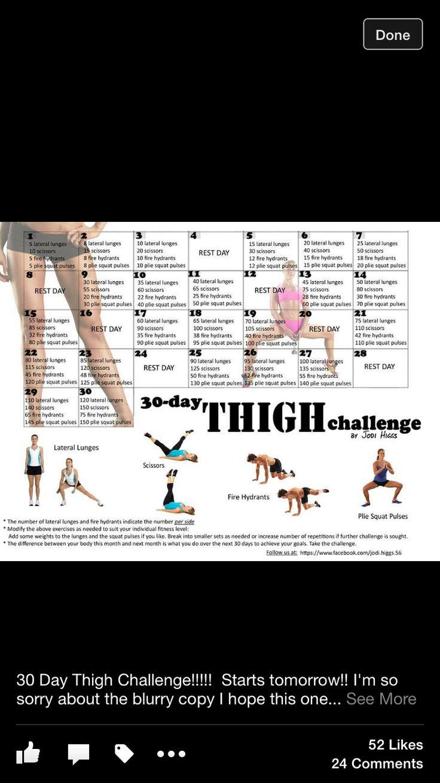Pinjackie Clark On Fitness   Thigh Challenge, Slim