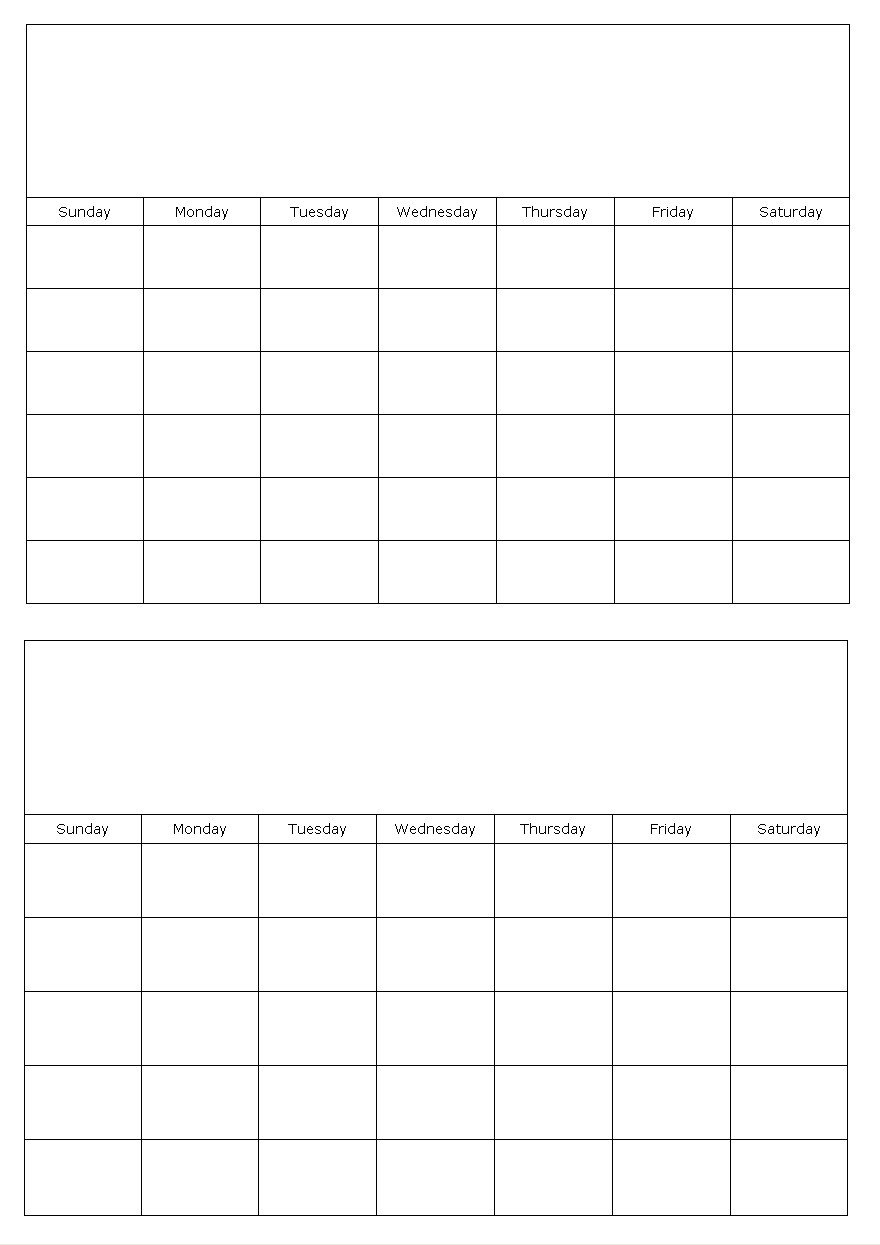 Print Calendar 2 Months | Example Calendar Printable