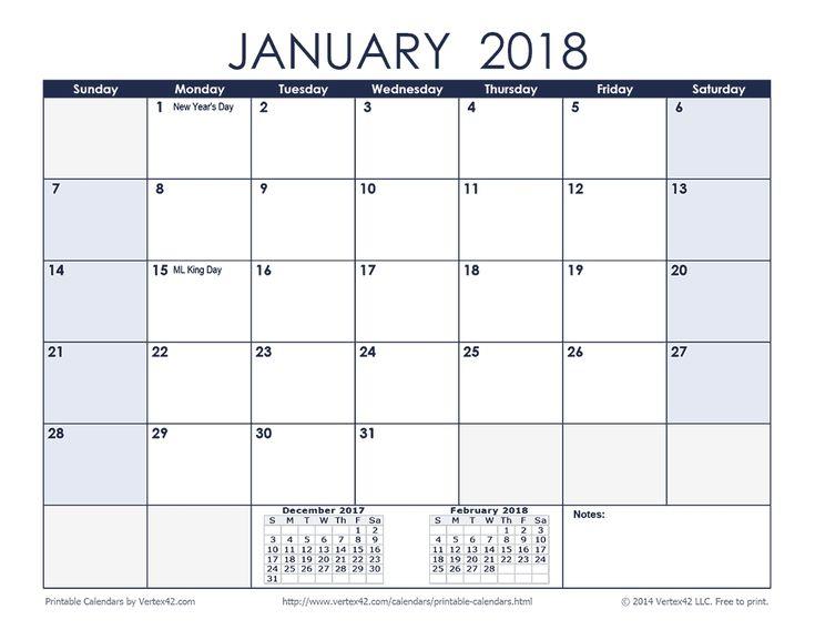 Print Free Sunday Through Saturday Calendar
