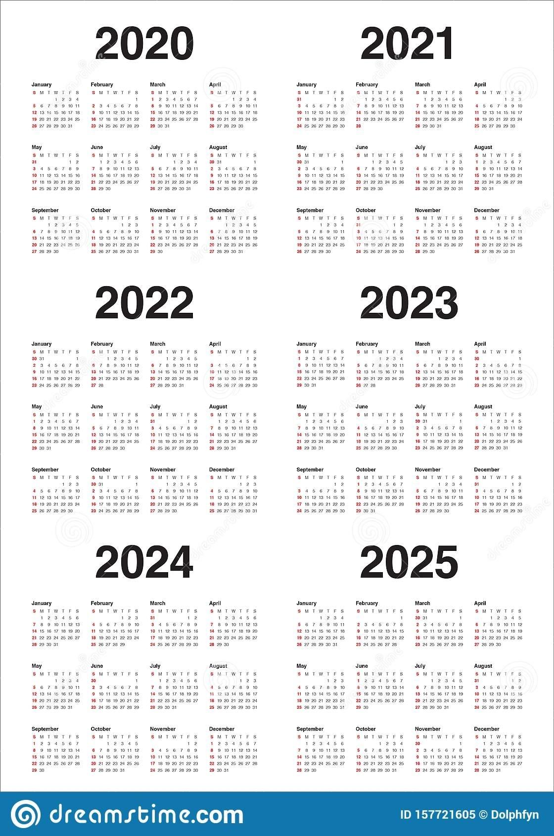 Printable 3 Year Calendars 2021 2022 2023 | Ten Free