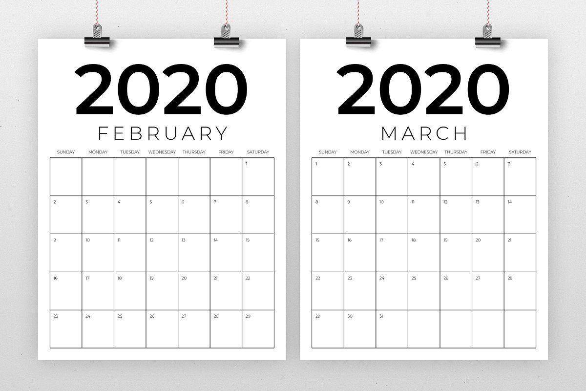 Printable 8.5X11 Calendar - Vertical 8 5 X 11 Inch 2020
