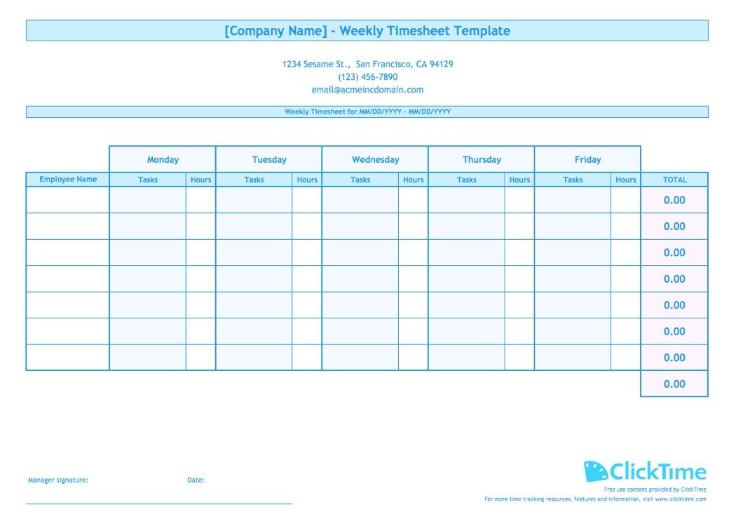Printable Blank Bi-Weekly Employee Schedule - Calendar