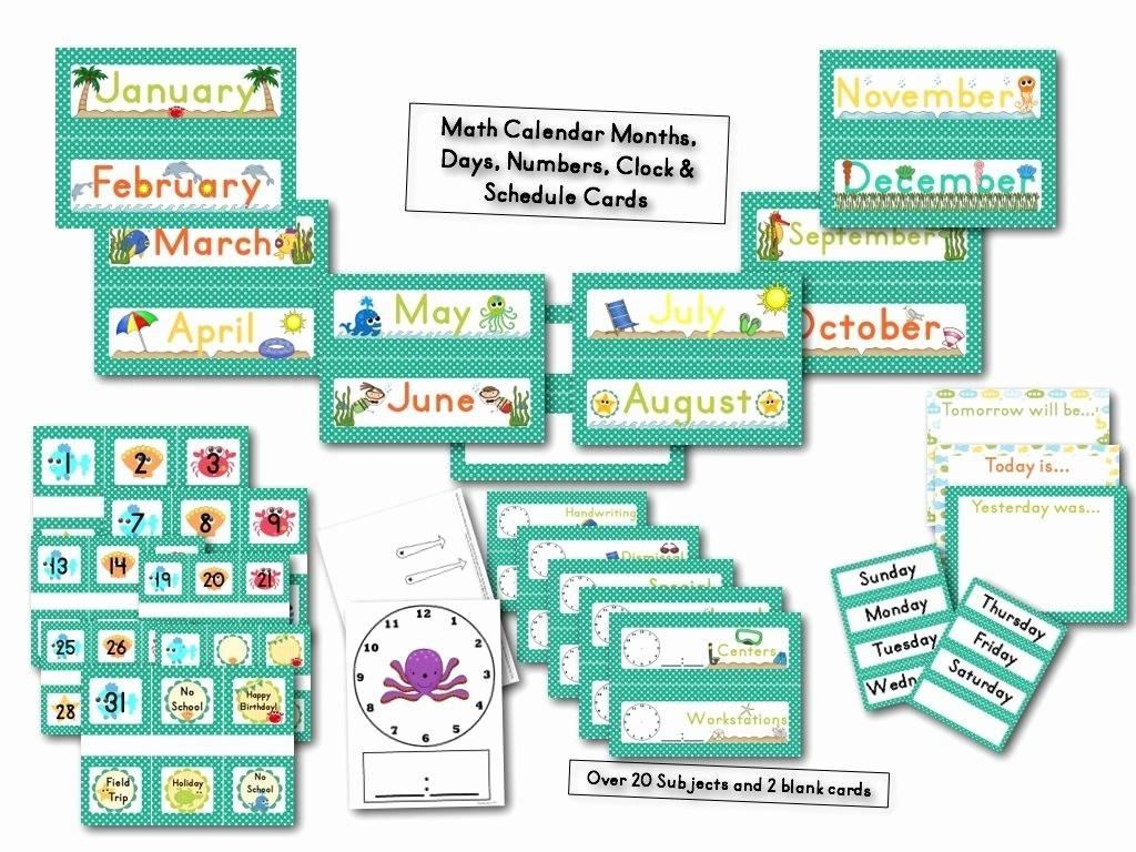 Printable Calendar Numbers 1-31 | Ten Free Printable
