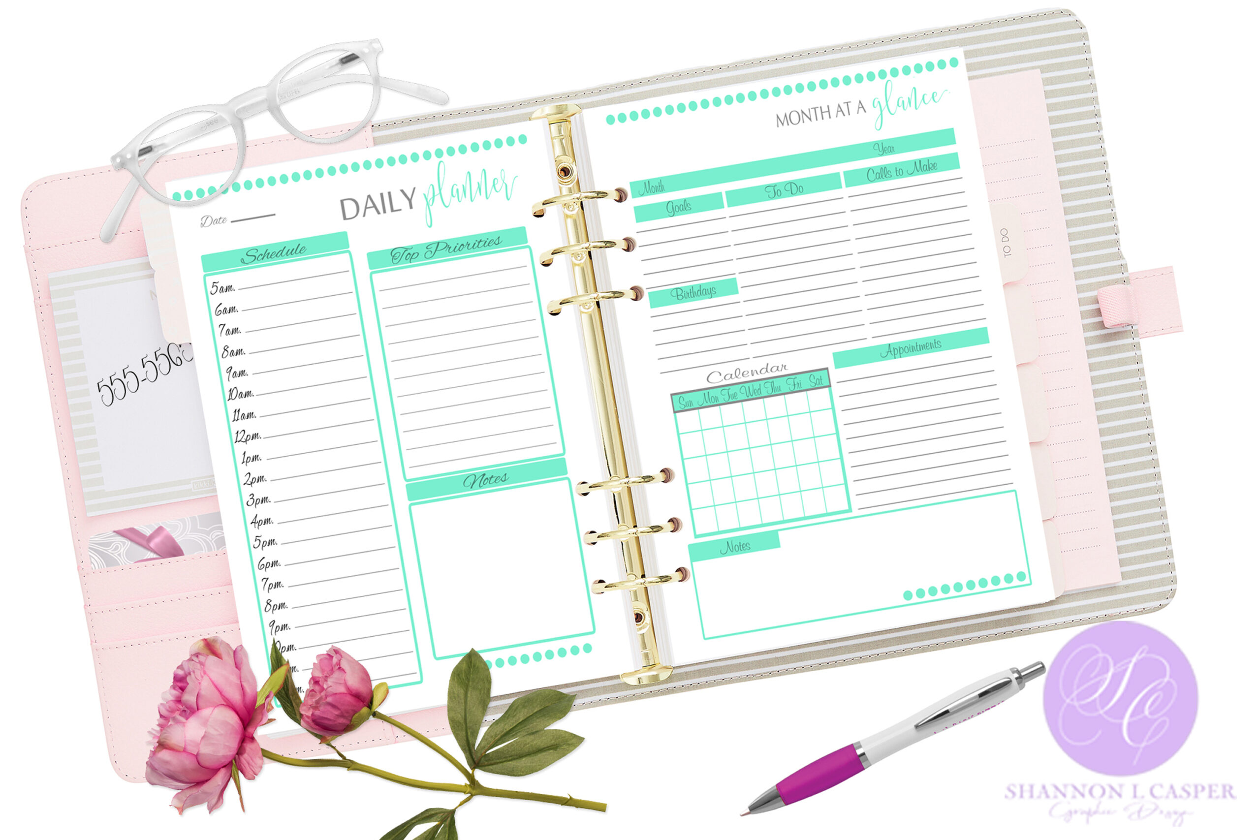 Printable Month At A Glance Page