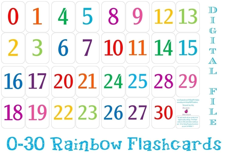 Printable Preschool Numbers 1 31   Free Calendar Template