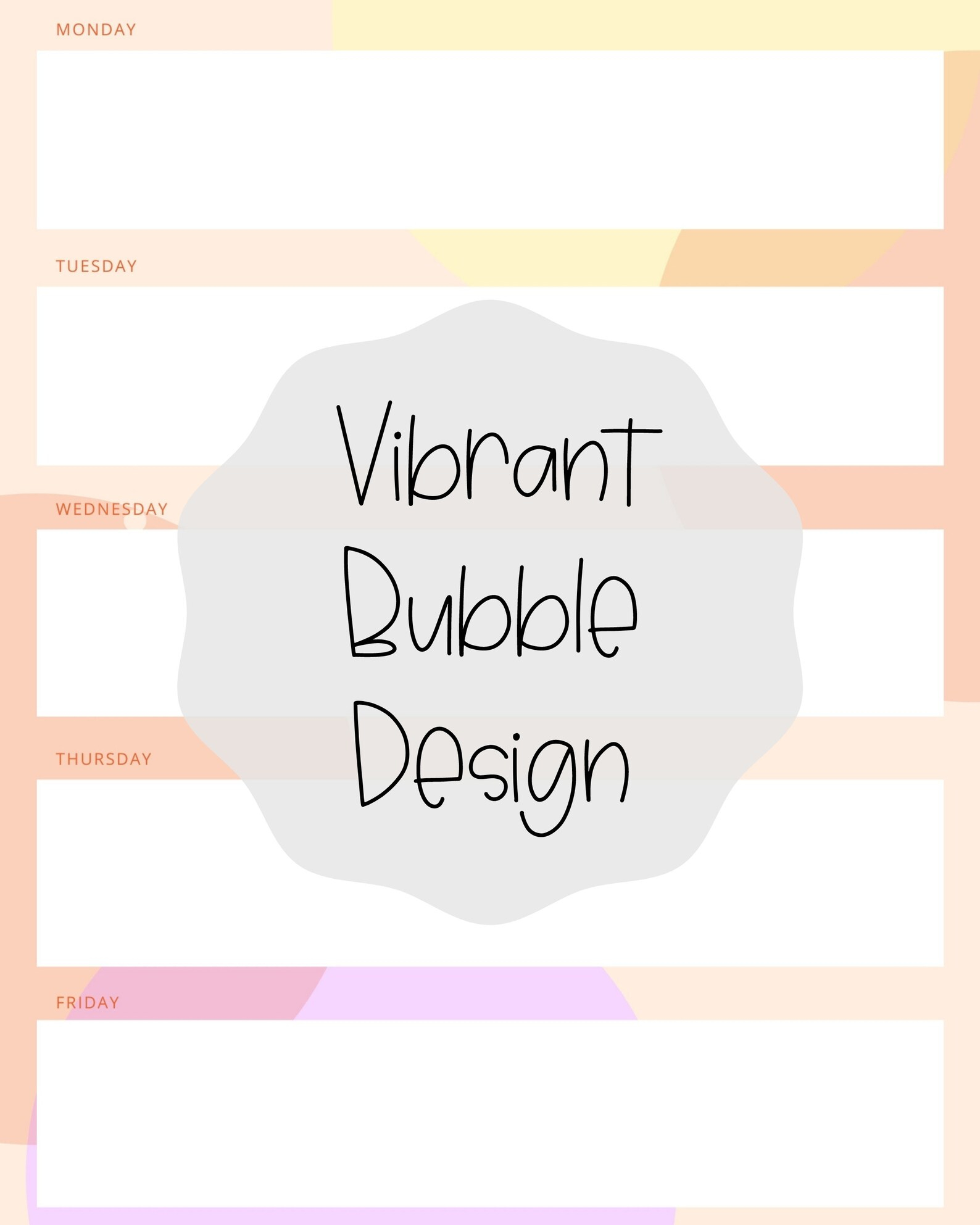 Printable To-Do Lists Weekly Organization Monday Friday | Etsy