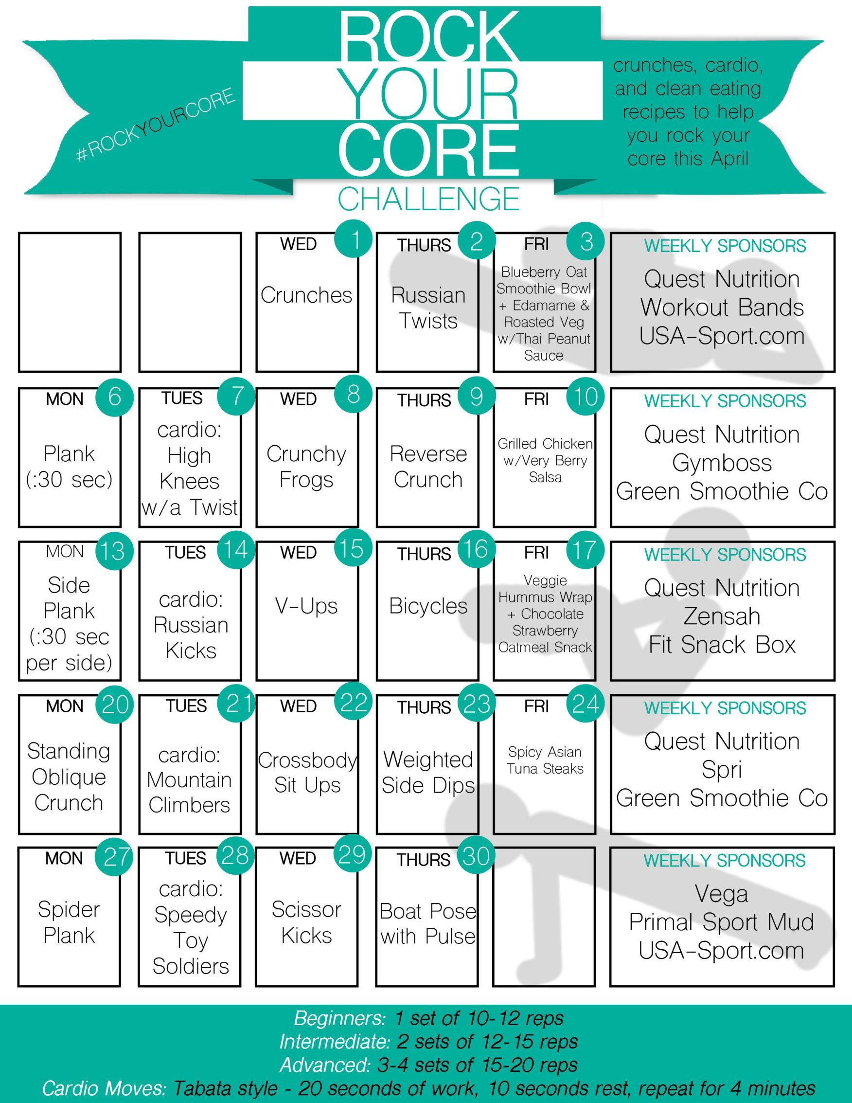 Rock Your Core April Abs Challenge   Abs Challenge