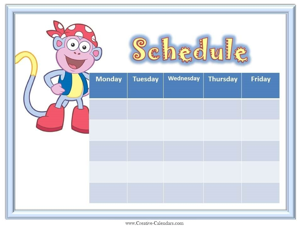 Schedule Template Monday Through Friday The Modern Rules