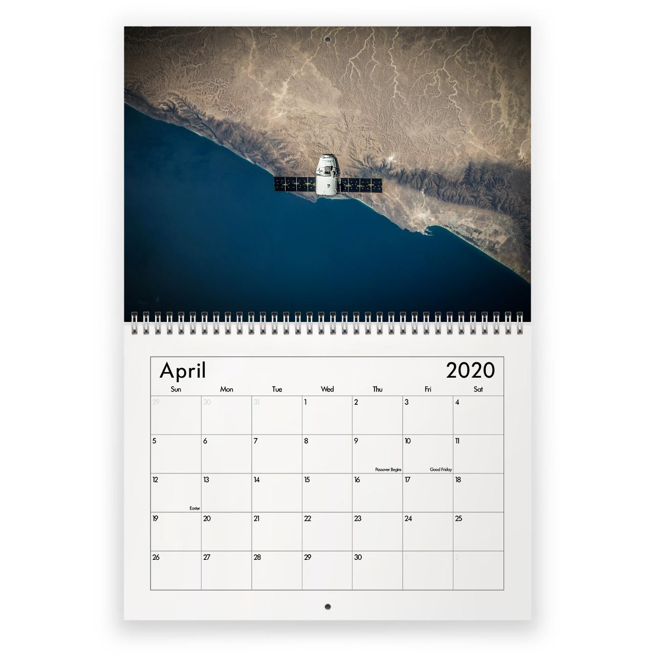 Space 2021 Calendar