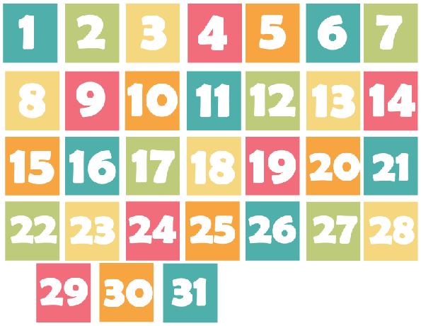 Spring Inspired Calendar Days Printable   Printable
