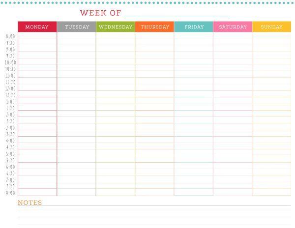 Sunday Through Saturday Calendar   Calendar Printables