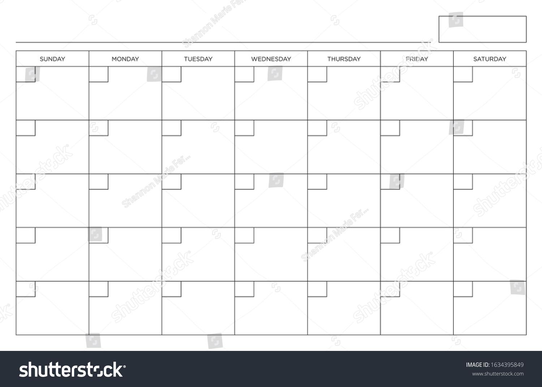 Sunday Through Saturday Calendar   Calendar Template
