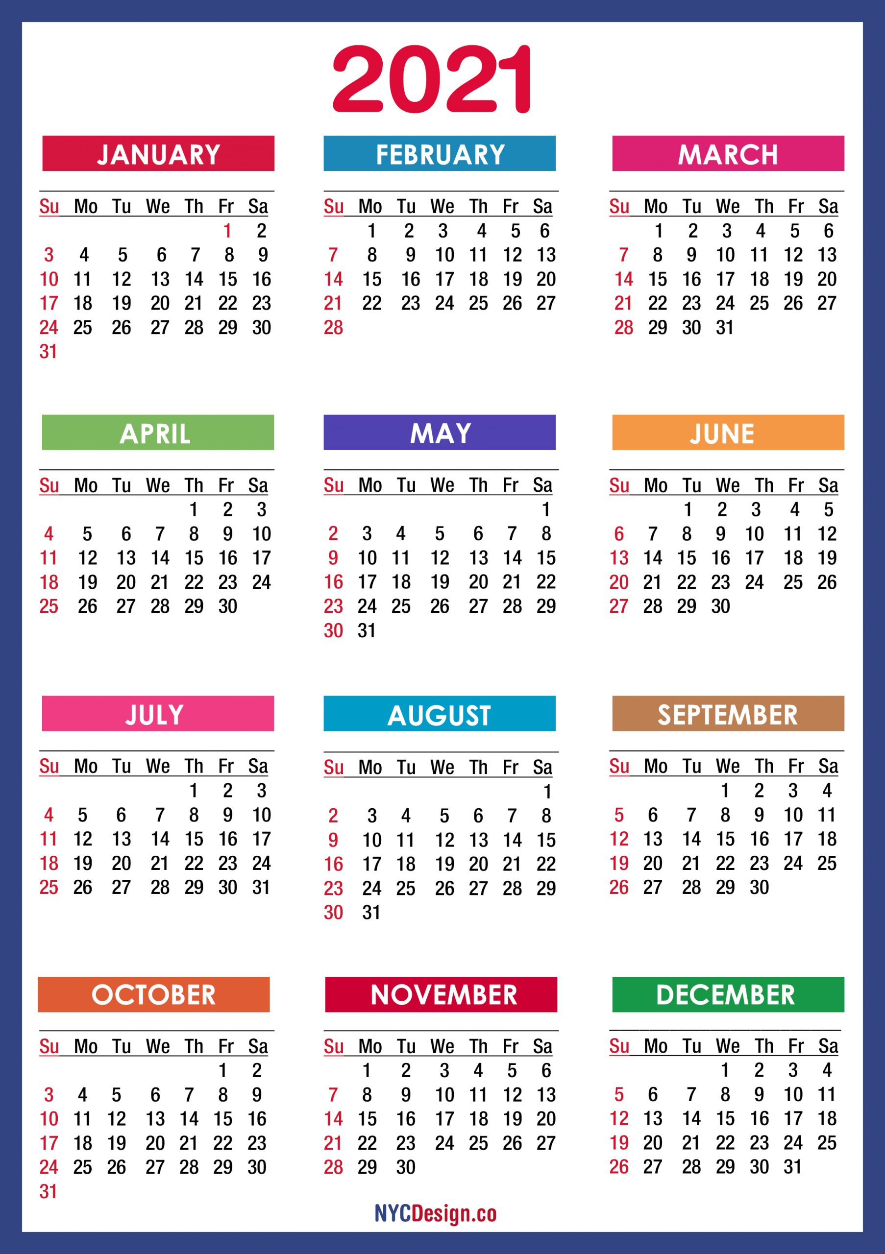 Take 2021 Printable Calendar Free   Calendar Printables