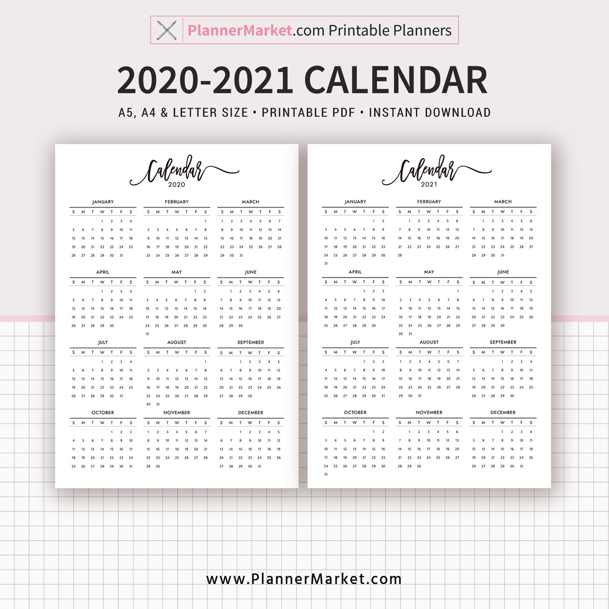 Take Calendar 2020 - 2021 Template | Calendar Printables