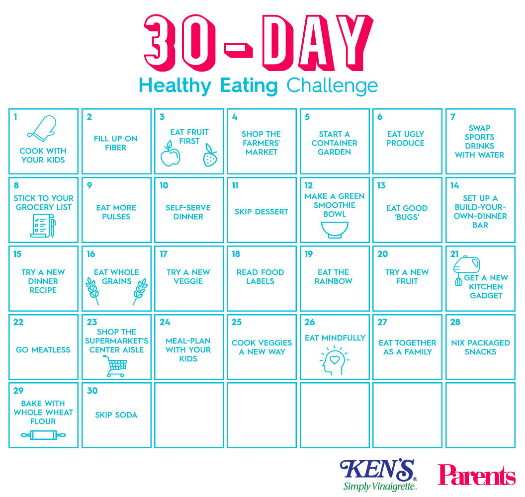 The 30-Day Healthy Eating Challenge | Parents