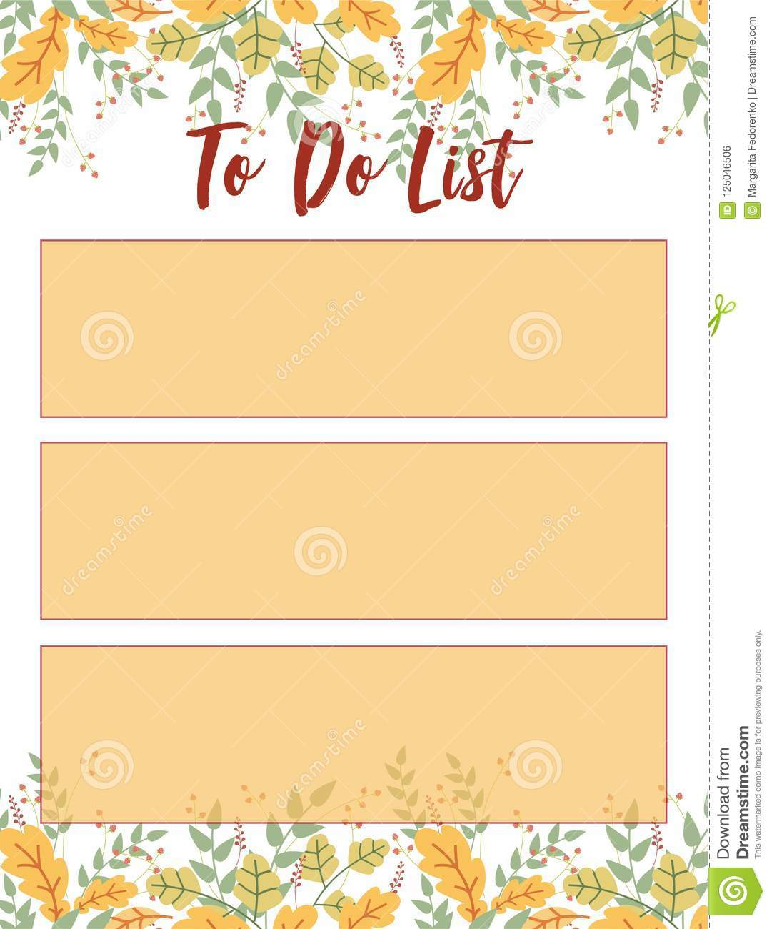 To Do List Stock Vector. Illustration Of Monday, Friday