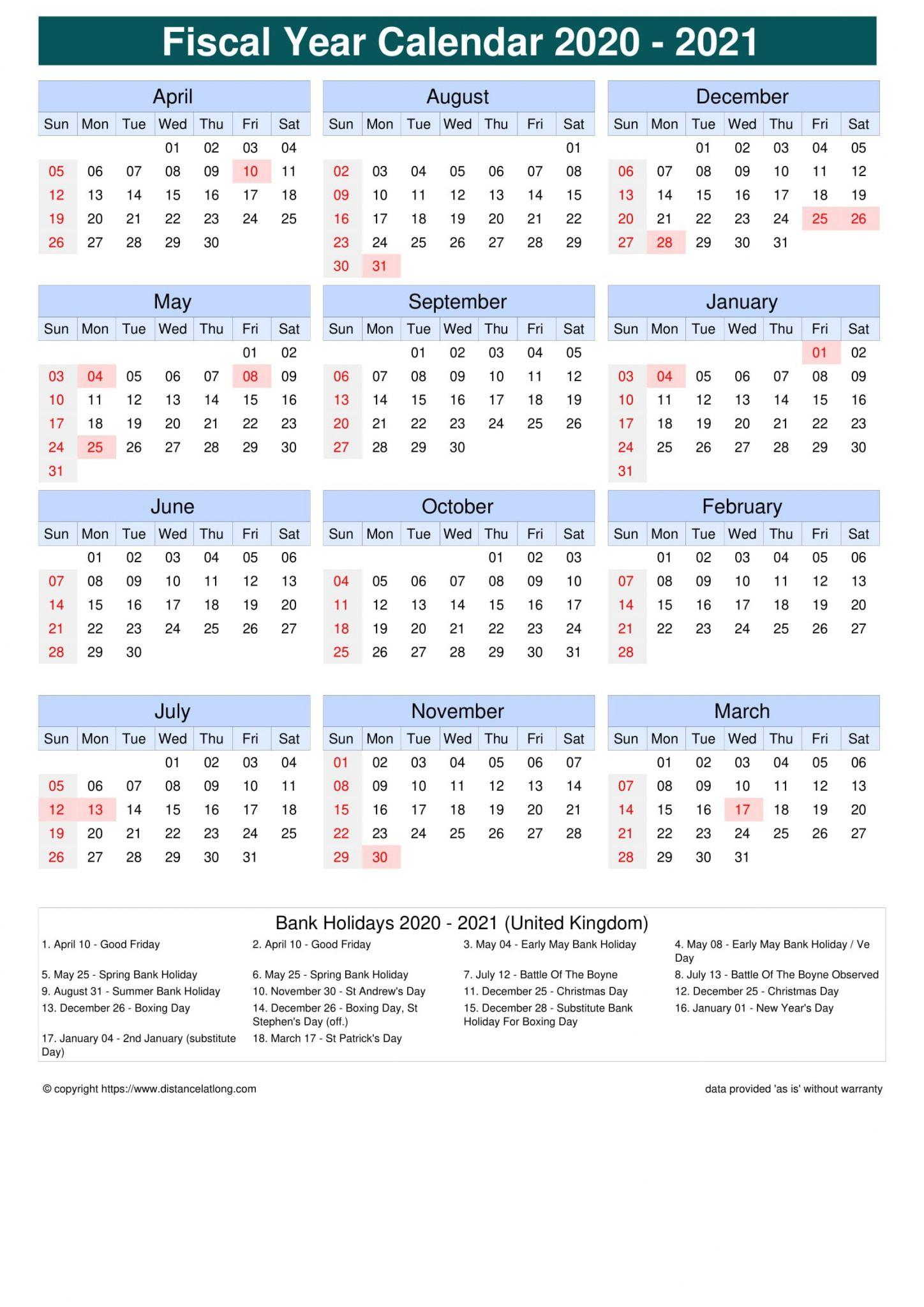 Week Numbers Of A Financial Year 2021 | Free Printable