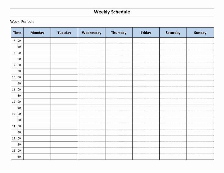 Week Planner Template Word Elegant 7 Day Weekly Planner